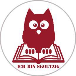 """Skoutz Logo """"Ich bin skoutzig"""""""