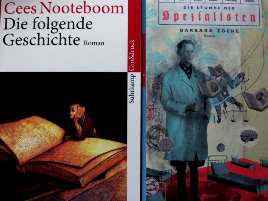 """Buchcover: """"Die folgende Geschichte"""" von Cees Nooteboom & """"Die Stunde der Spezialisten"""" von Barbara Zoeke"""