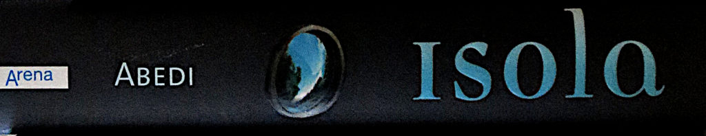 """Buchrücken: """"Isola"""" von Isabel Abedi"""