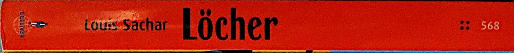 """Buchrücken: """"Löcher"""" von Louis Sachar"""
