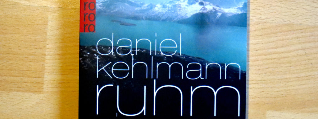 "Cover-Auschnitt ""Ruhm"" von Daniel Kehlmann"